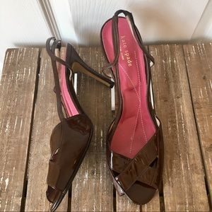 Kate Spade ♠️ Chocolate Brown Heels